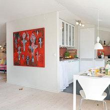 Фотография: Кухня и столовая в стиле Скандинавский, Декор интерьера, Декор дома, Картины, Современное искусство – фото на InMyRoom.ru