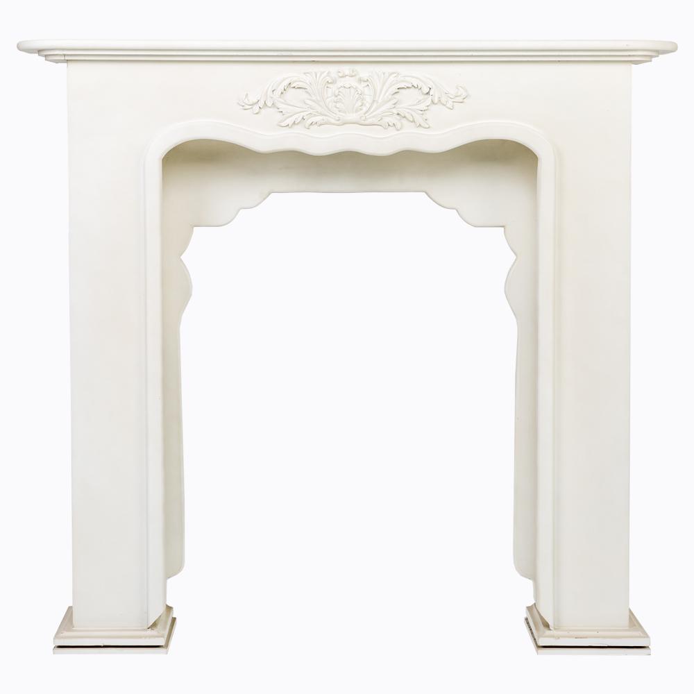 Каминный портал «вандом» белый