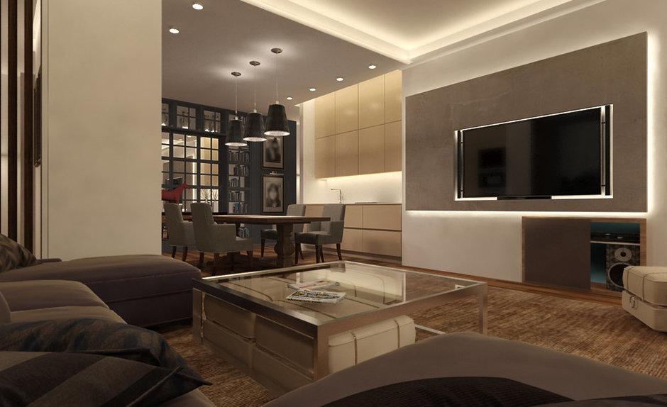Фотография: Гостиная в стиле Современный, Квартира, Дома и квартиры, Проект недели, Переделка – фото на InMyRoom.ru