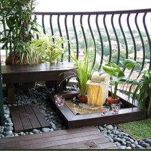 Фотография: Балкон, Терраса в стиле Кантри, Современный, Восточный – фото на InMyRoom.ru