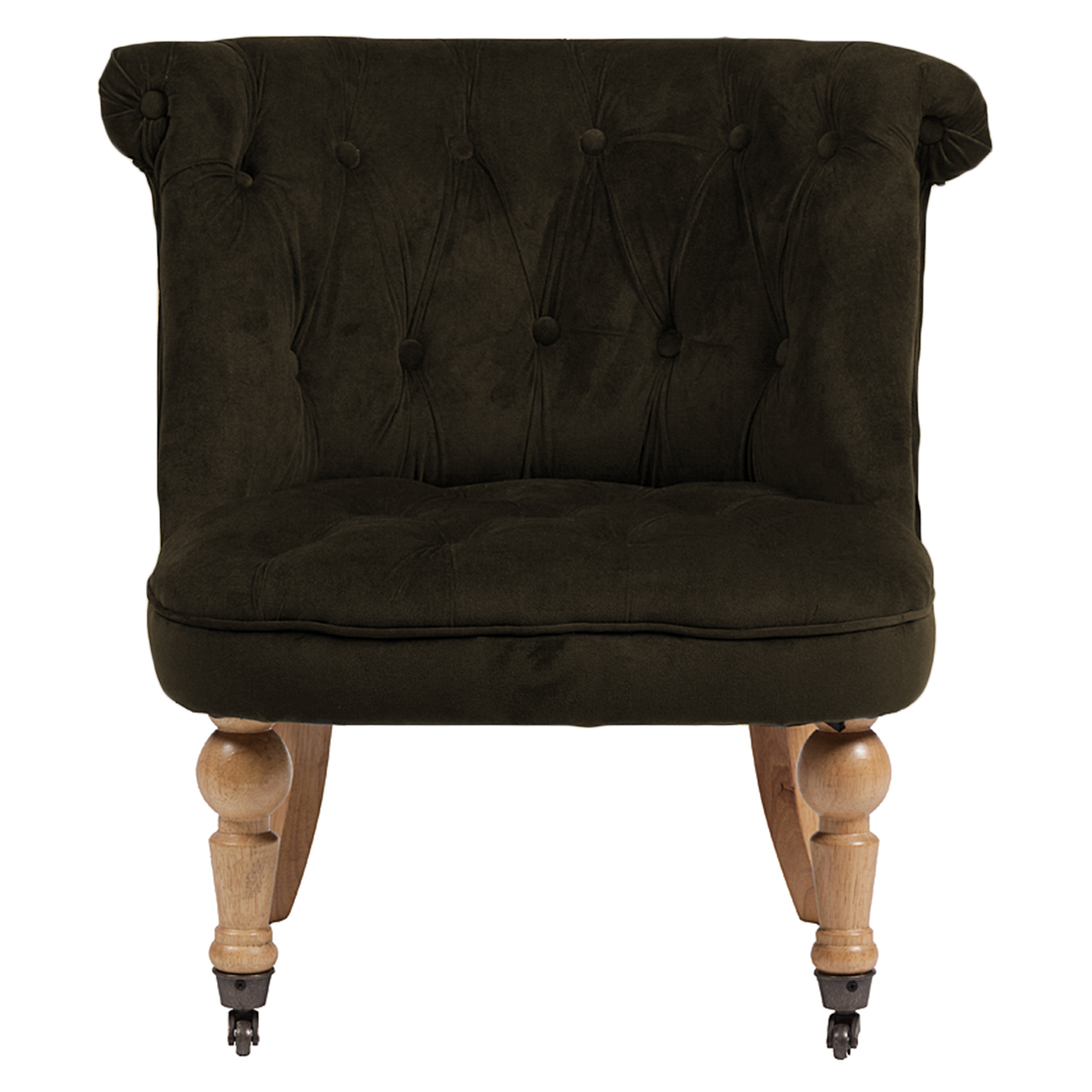 Купить со скидкой Кресло Amelie French Country Chair серо-коричневый велюр