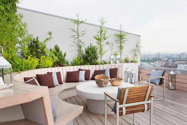 Фотография: Балкон, Терраса в стиле Современный, Квартира, Дома и квартиры, Интерьеры звезд – фото на InMyRoom.ru