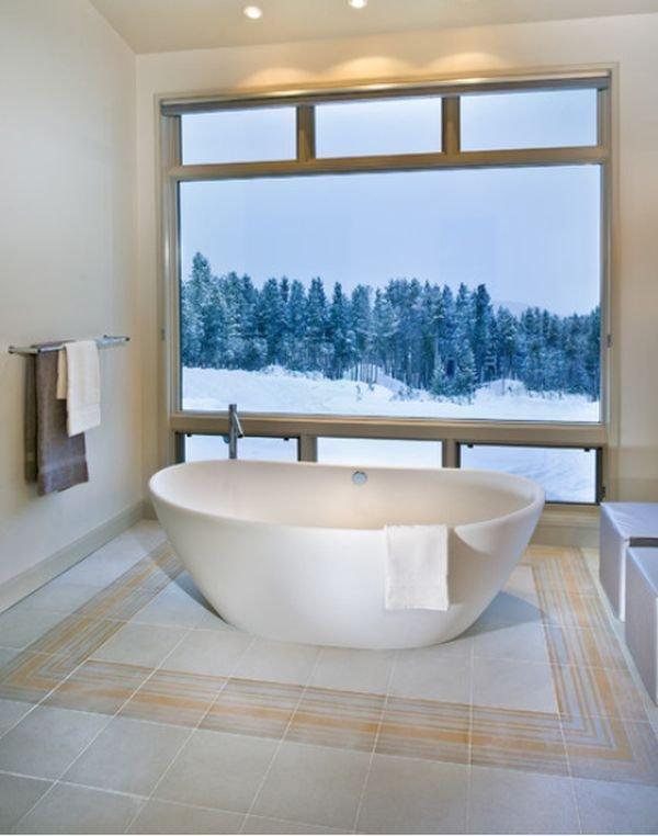 Фотография: Ванная в стиле Скандинавский, Декор, Стиль жизни, Советы, Камин, Плед – фото на InMyRoom.ru