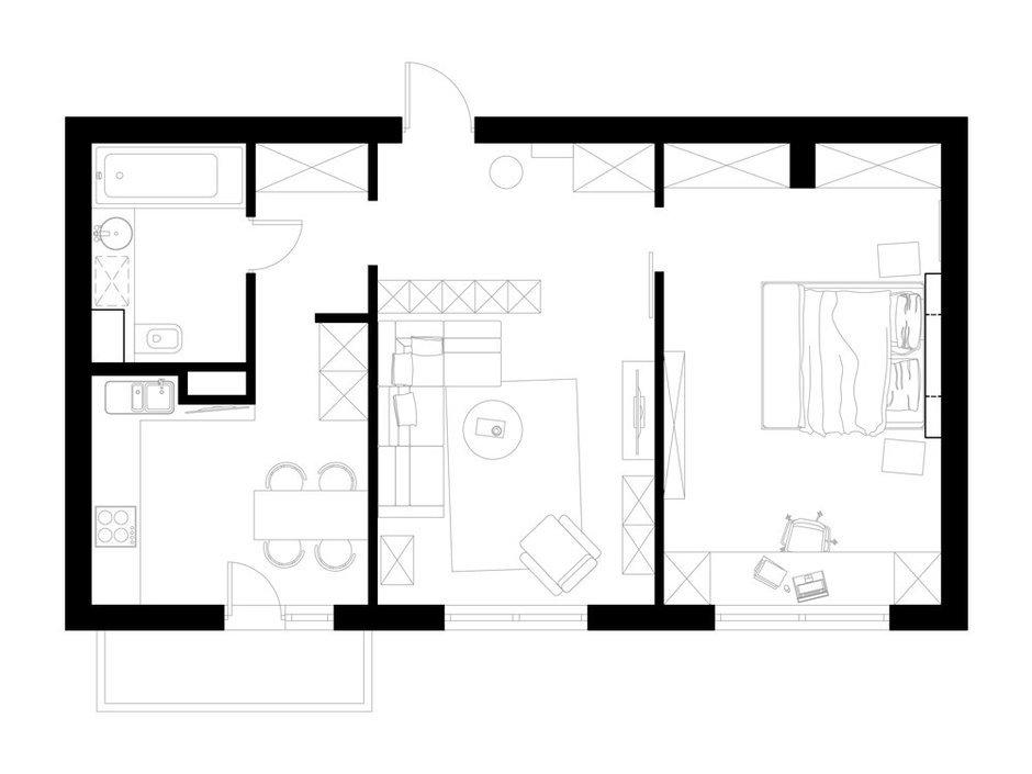 Фотография: Планировки в стиле , Квартира, Дома и квартиры, Москва – фото на InMyRoom.ru