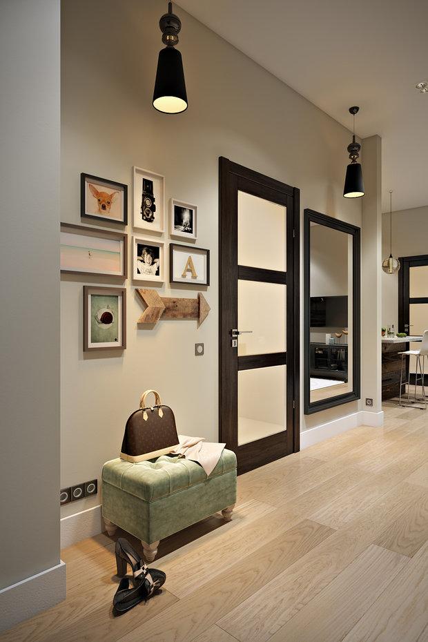 Фотография: Прихожая в стиле Современный, Эко, Лофт, Квартира, Проект недели – фото на InMyRoom.ru