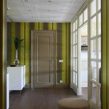 Фотография: Прихожая в стиле Кантри, Современный, Ванная, Квартира, Цвет в интерьере, Дома и квартиры, Белый, Зеленый, Синий – фото на InMyRoom.ru