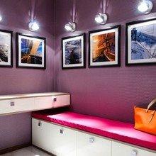 Фотография: Прихожая в стиле Современный, Кухня и столовая, Ванная, Гостиная, Спальня, Квартира, Цвет в интерьере, Дома и квартиры, Белый, Синий – фото на InMyRoom.ru