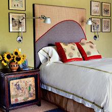 Фотография: Спальня в стиле Кантри, Эклектика, Дом, Цвет в интерьере, Дома и квартиры – фото на InMyRoom.ru