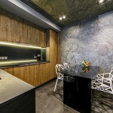 Фотография: Кухня и столовая в стиле Лофт, Гостиная, Квартира, Архитектура, Мебель и свет, Прочее, Проект недели, Переделка – фото на InMyRoom.ru