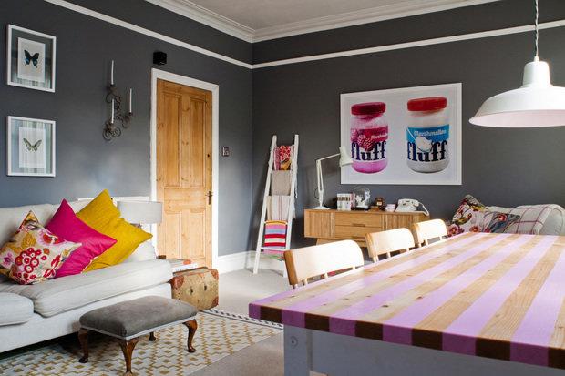 Фотография: Кухня и столовая в стиле Эклектика, Декор интерьера, Декор дома, Цвет в интерьере, Геометрия в интерьере – фото на InMyRoom.ru