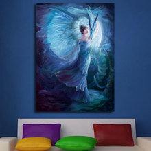 Декоративная картина на холсте: Повелительница синего дракона