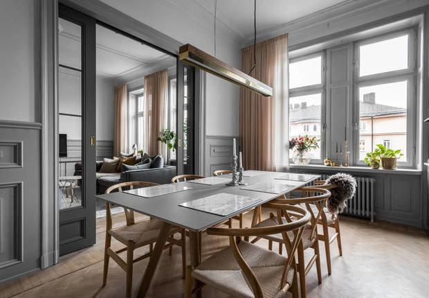 Фотография: Кухня и столовая в стиле Скандинавский, Классический, Декор интерьера, Швеция, Бежевый, Стокгольм, Серый, 3 комнаты, 60-90 метров – фото на INMYROOM