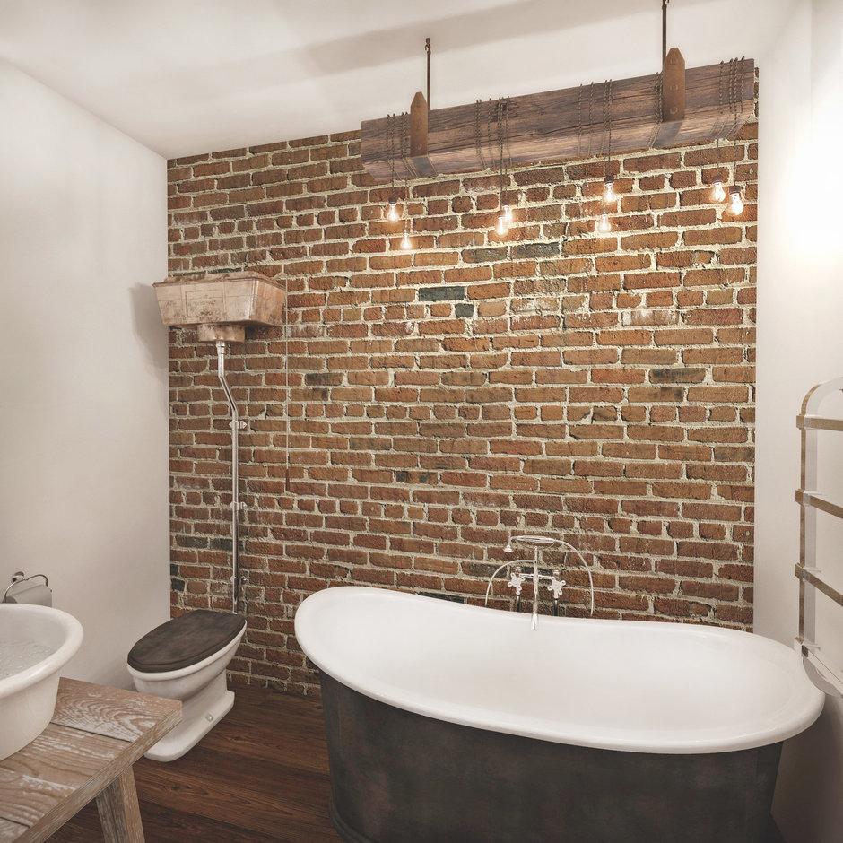 Фотография: Ванная в стиле Лофт, Квартира, Дома и квартиры, Проект недели, Перепланировка, Переделка, КТ – фото на InMyRoom.ru
