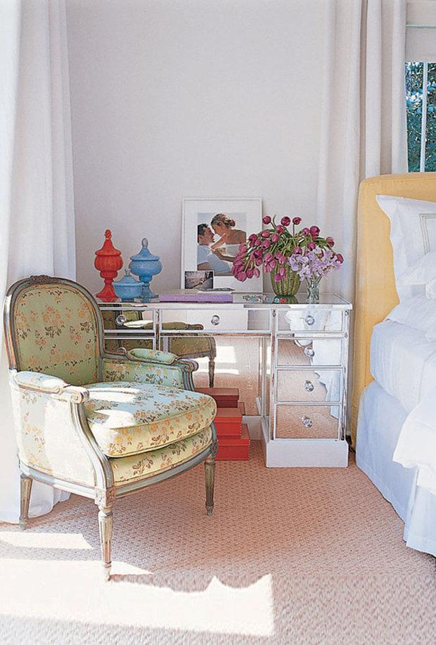 Фотография: Спальня в стиле Прованс и Кантри, Дом, Дома и квартиры, Интерьеры звезд – фото на InMyRoom.ru