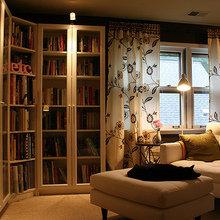 Фотография: Мебель и свет в стиле Современный, Декор интерьера, Декор дома, Полки, Библиотека – фото на InMyRoom.ru