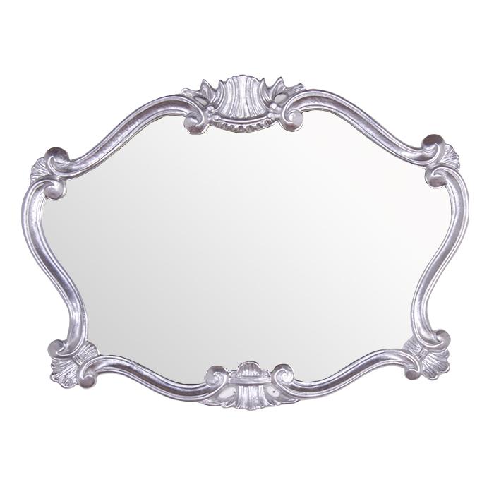 Купить Настенное зеркало в раме серебряного цвета, inmyroom, Италия