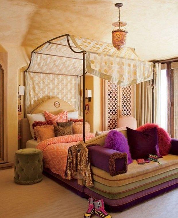 Фотография: Спальня в стиле Современный, Восточный, Дома и квартиры, Интерьеры звезд – фото на InMyRoom.ru