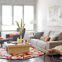 Фотография: Гостиная в стиле Современный, Лофт, Квартира, Цвет в интерьере, Дома и квартиры, Белый, Лестница – фото на InMyRoom.ru