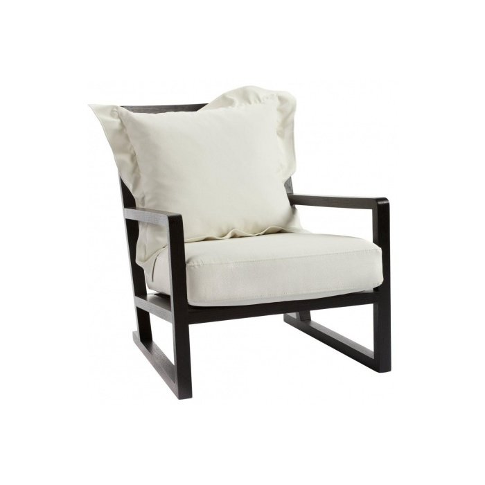 Кресло Braiton из дерева и экокожи