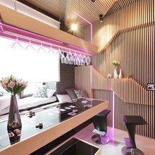 Фотография: Кухня и столовая в стиле Хай-тек, Декор интерьера, Дизайн интерьера, Мебель и свет, Цвет в интерьере – фото на InMyRoom.ru