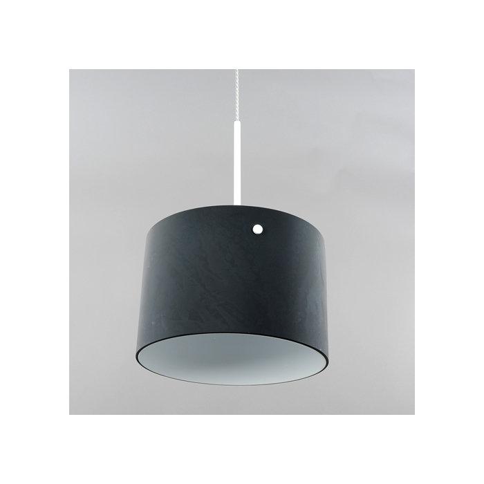 Подвесной светильник Elvan с плафоном из черного стекла