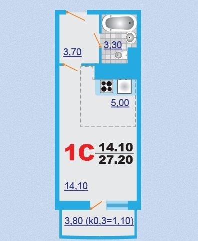 Помогите придумать дизайн студии 27 кв.м