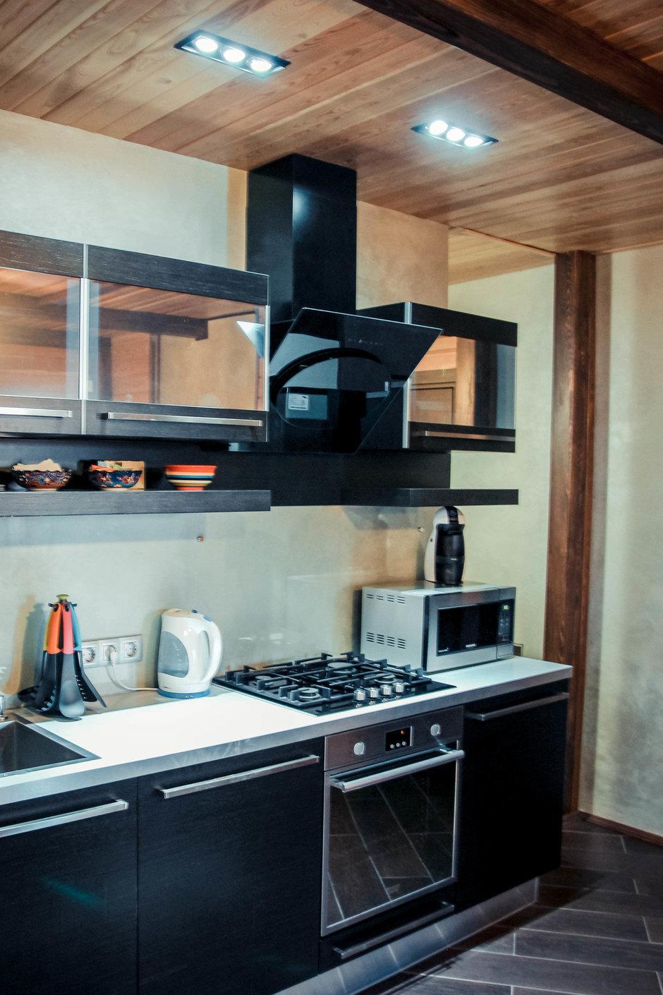 Фотография: Кухня и столовая в стиле Лофт, Современный, Дом, Дома и квартиры, Шале – фото на InMyRoom.ru