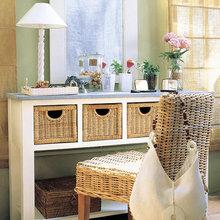 Фотография: Мебель и свет в стиле Кантри, Спальня, Интерьер комнат, Ремонт – фото на InMyRoom.ru