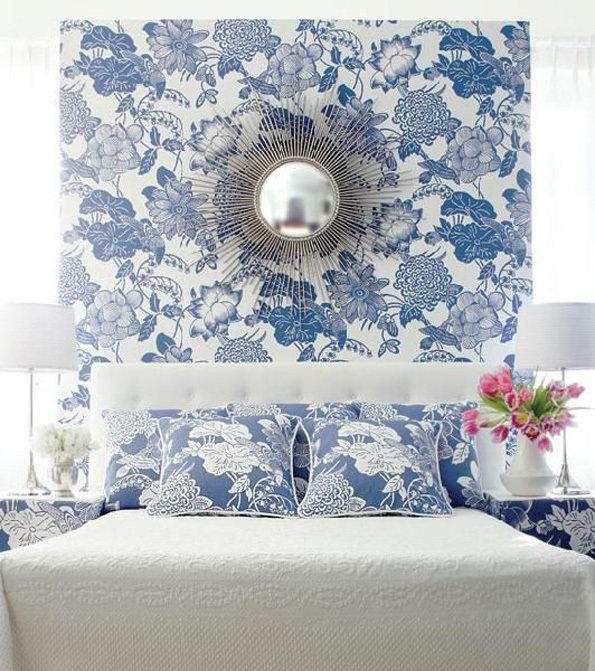Фотография: Спальня в стиле Современный, Декор интерьера, DIY, Обои – фото на InMyRoom.ru