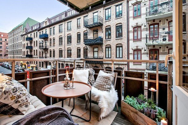 Фотография: Балкон в стиле Скандинавский, Эко, Декор интерьера, Квартира, Аксессуары, Декор, Белый – фото на InMyRoom.ru