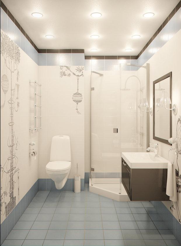 Фотография: Ванная в стиле Современный, Квартира, Gramercy Home, Дома и квартиры, IKEA, Проект недели – фото на InMyRoom.ru