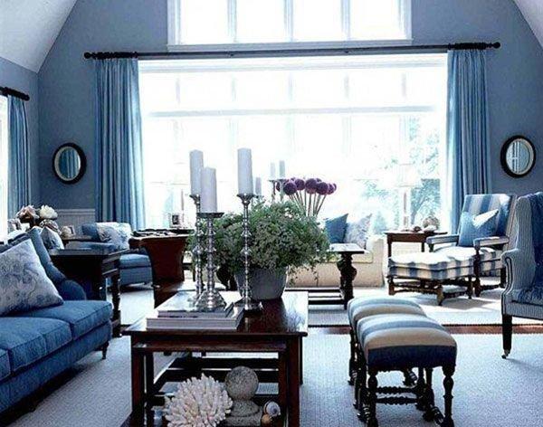 Фотография: Гостиная в стиле Прованс и Кантри, Декор интерьера, Дизайн интерьера, Цвет в интерьере – фото на InMyRoom.ru