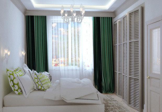 Фотография: Спальня в стиле Современный, Декор интерьера, Декор, текстиль в интерьере, декор окна, выбор штор для интерьера – фото на InMyRoom.ru