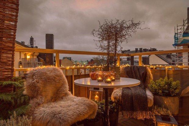 Фотография: Терраса в стиле Скандинавский, Эклектика, Декор интерьера, Квартира, Швеция, Стокгольм, 4 и больше, Более 90 метров – фото на INMYROOM