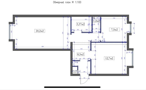 Фотография: Планировки в стиле , Классический, Квартира, Проект недели, Москва, 2 комнаты, 60-90 метров, Muzahouse – фото на INMYROOM