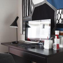 Фотография: Кабинет в стиле Современный, Скандинавский, Эклектика, Квартира, Проект недели – фото на InMyRoom.ru