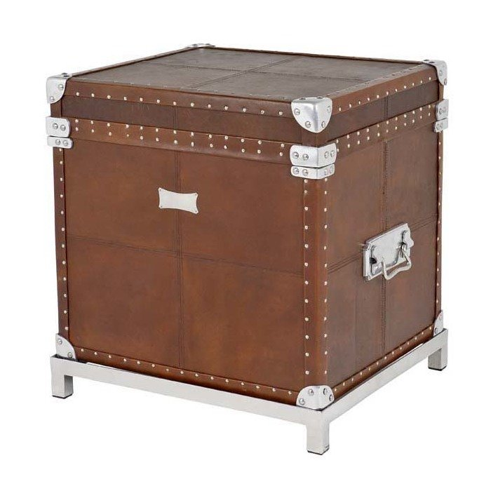 "Сундук Eichholtz ""Flightcase Brown Leather"""