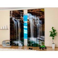 Стильные фотошторы: Горный водопад