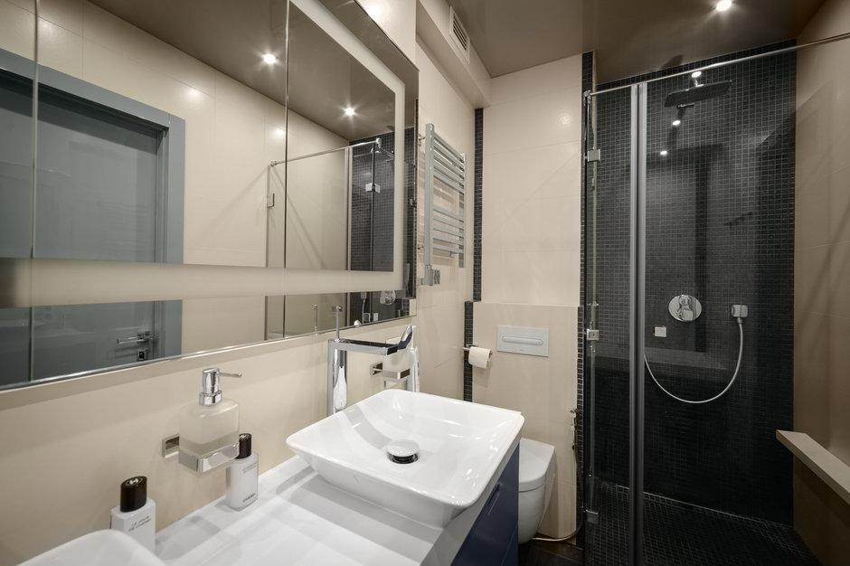 Фотография: Ванная в стиле Лофт, Современный, Квартира, Дома и квартиры, Проект недели, Поп-арт – фото на InMyRoom.ru