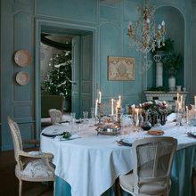 Фотография: Кухня и столовая в стиле Кантри, Дом, Дома и квартиры, Камин, Свечи – фото на InMyRoom.ru