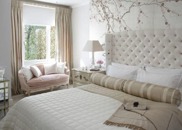 Фотография: Спальня в стиле Прованс и Кантри, Декор интерьера, Зеленый, Бежевый, Серый, Розовый, Голубой – фото на InMyRoom.ru