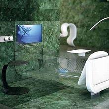 Фотография: Ванная в стиле Современный, Хай-тек, Интерьер комнат, Подсветка, Ванна – фото на InMyRoom.ru