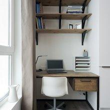 Фотография: Кабинет в стиле Минимализм, Малогабаритная квартира, Квартира, Студия, Проект недели, до 40 метров – фото на InMyRoom.ru