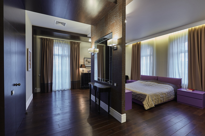 Зонирование пространства в спальне
