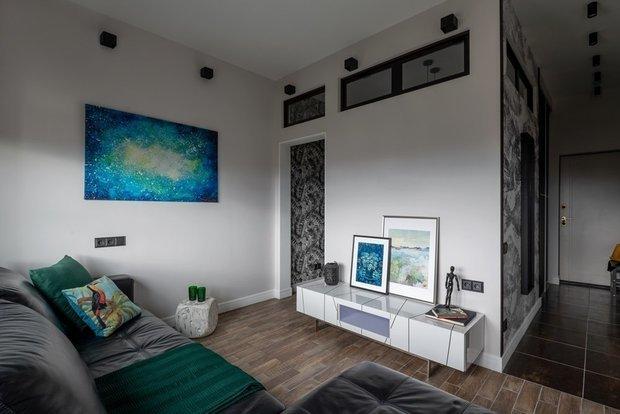 Фотография: Гостиная в стиле Современный, Малогабаритная квартира, Квартира, Студия, Советы, 1 комната – фото на INMYROOM