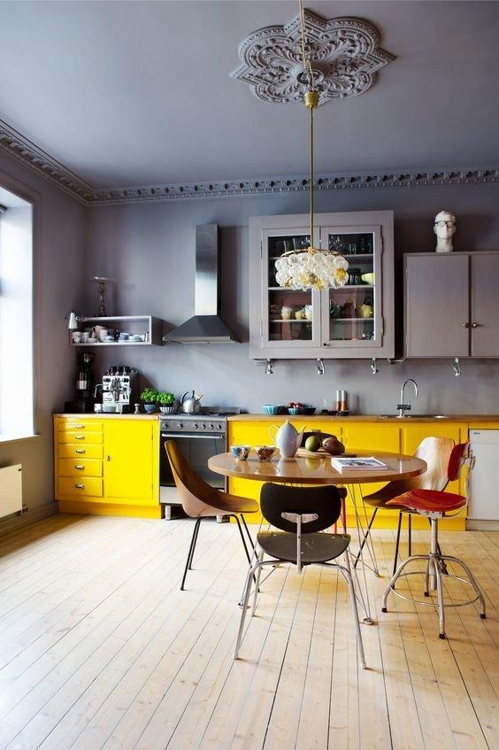 Фотография: Кухня и столовая в стиле Скандинавский, Советы, Желтый, Виктория Тарасова – фото на InMyRoom.ru
