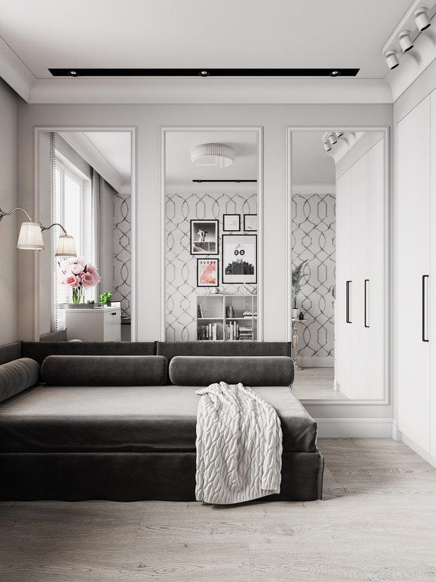 Фотография: Кабинет в стиле Классический, Современный, Квартира, Проект недели, Даша Ухлинова, Зеленоград, ГМС-1, 2 комнаты, 40-60 метров – фото на INMYROOM