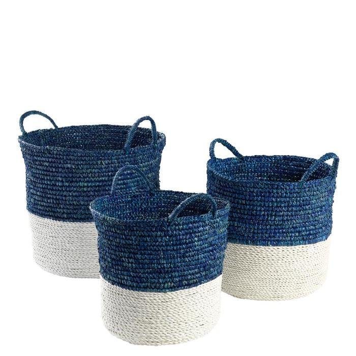 Набор из трех корзин Basket Clift set Eichholtz из натурального волокна