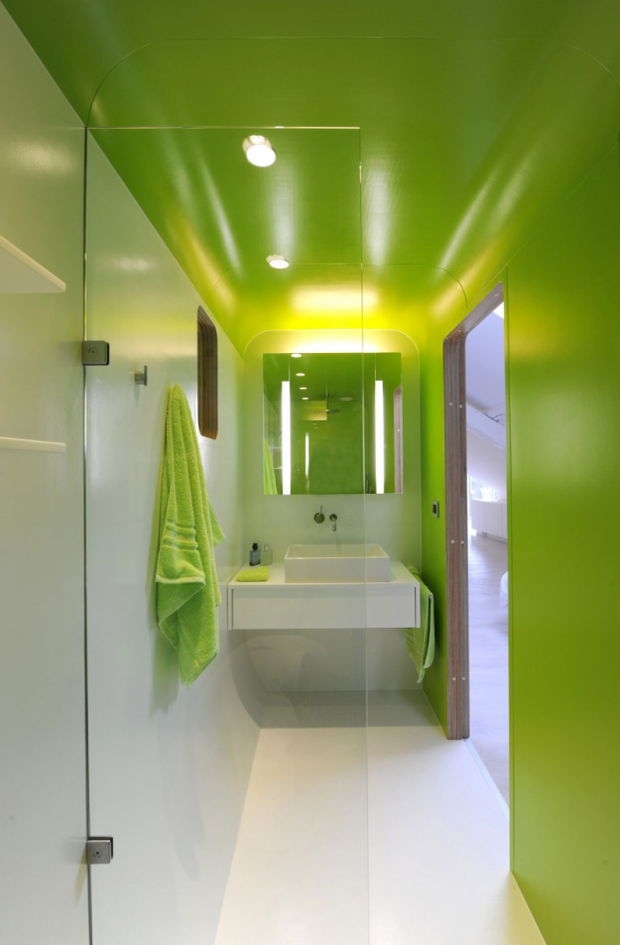 Фотография: Ванная в стиле Современный, Хай-тек, Лофт, Квартира, Дома и квартиры, Футуризм – фото на INMYROOM