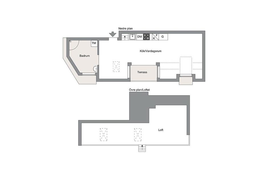 Фотография: Планировки в стиле , Декор интерьера, Малогабаритная квартира, Квартира, Дома и квартиры, Минимализм – фото на InMyRoom.ru